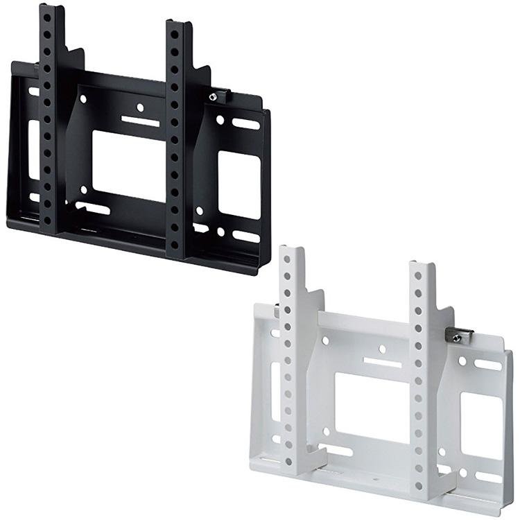 テレビ用壁掛け金具 角度固定タイプ ~43V型対応 HAMILeX MH-451 ブラック ホワイト 壁掛金具 【代引不可】