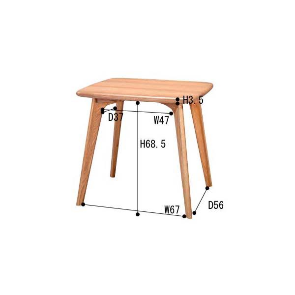 インテリア家具 ダイニングテーブル CL-816TNA 【代引不可】【同梱不可】