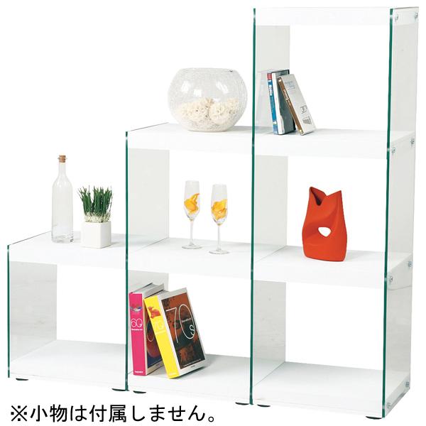【クーポンで200円off】 インテリア家具 ステアラック3D HAB-702WH 【代引不可】【同梱不可】