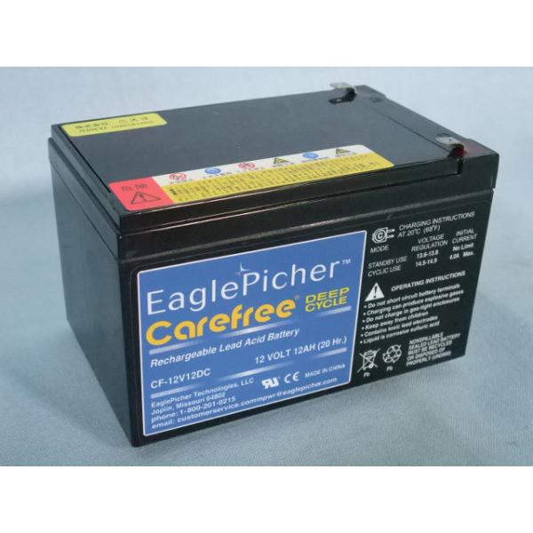 メンテナンスフリー イーグルピッチャー(EaglePicher) ディープサイクルバッテリー CF12V12DC 【代引不可】【同梱不可】