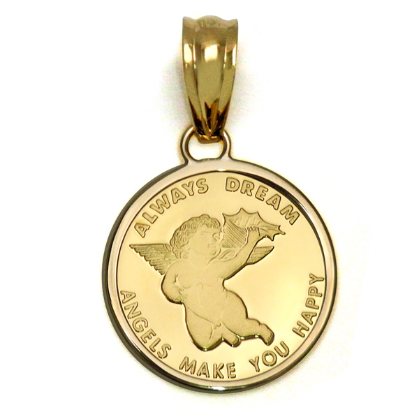 K24エンジェルゴールドインゴットペンダント純金コインスイスパンプ社製K24純金エンジェルペンダントトップ2.5g 【代引不可】