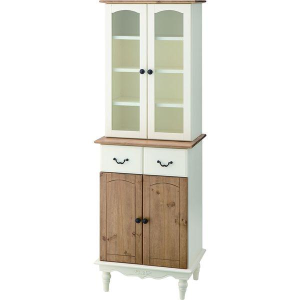 カップボード 棚 食器棚 収納 AZUMAYA PM-853 おしゃれ デザイン家具 インテリア 家具 【代引不可】【同梱不可】