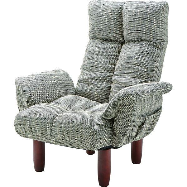 脚付 パーソナルチェア いす イス 椅子 チェア AZUMAYA RKC-39GY GY おしゃれ デザイン家具 インテリア 家具 【代引不可】【同梱不可】