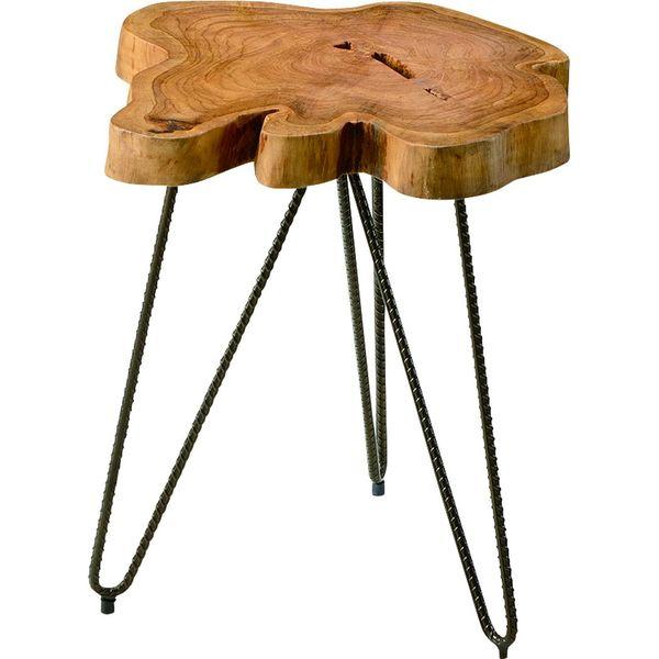 ムク テーブル 切りかぶ 天然木 AZUMAYA TTF-185 おしゃれ デザイン家具 インテリア 家具 【代引不可】【同梱不可】