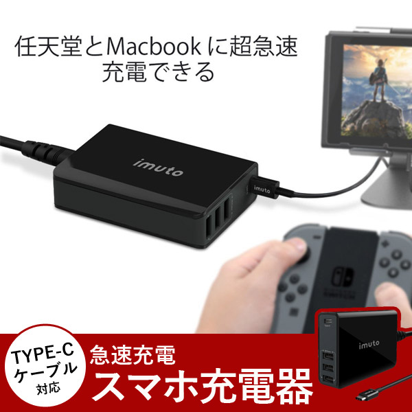 USB battery charger TYPE-C cable-adaptive fast charging smartphone battery  charger Macbook and iPhone, the fast charging of the Nintendo switch are