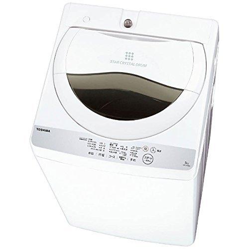 全自動洗濯機 洗濯・脱水容量5kg 風乾燥 1.3kg 東芝グランホワイト AW-5G6-W 【代引不可】