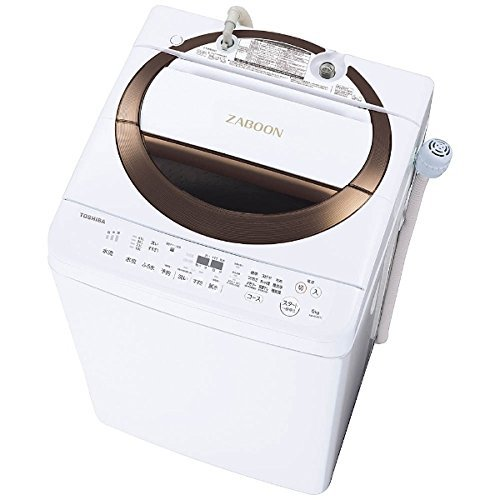 全自動洗濯機 洗濯・脱水容量 6kg 風乾燥 2kg ふろ水ポンプ内臓 東芝ブラウン AW-6D6-T 【代引不可】