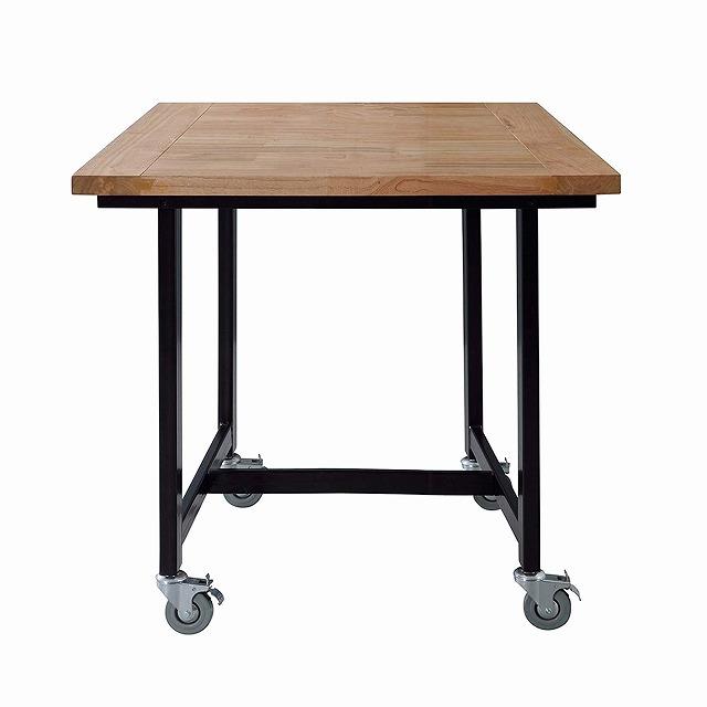 ワーカーチェア ダイニングテーブル 存在感を出す天然木 W80xD80xH72 GUY-671 【代引不可】