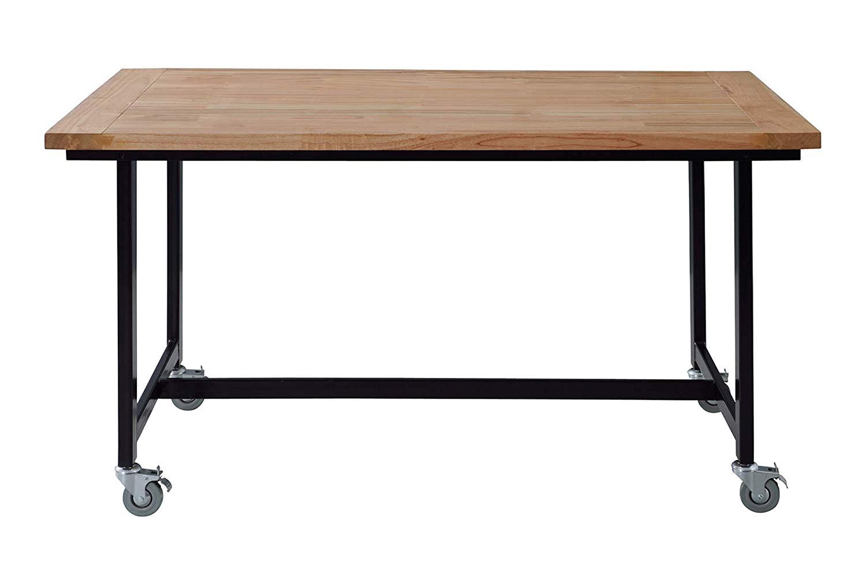 ワーカーチェア ダイニングテーブル 存在感を出す天然木 W135xD80xH72 GUY-672 【代引不可】