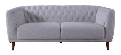 ソファー 3人掛け 控えめであっさりとしたベージュの生地と菱形ステッチ W181 HS-503BE 【代引不可】