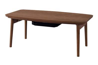 コタツテーブル 天然木 石英管ヒーター300W 長方形 シンプル おしゃれ こたつ W90 KT-111 【代引不可】