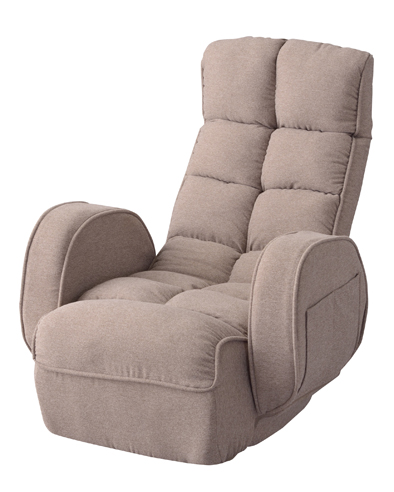 肘付きリクライナー 座椅子 リクライニング 折りたたみ式 背部7段階 頭部14段階 LSS-33BE 【代引不可】
