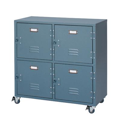 チェスト4D 4ボックス ロッカーをイメージしたラルドシリーズ W75xD37xH75 TPN-31GR 【代引不可】