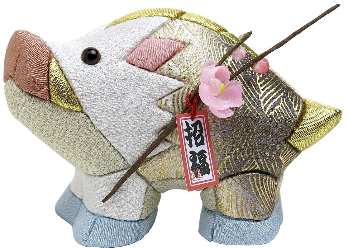 木目込材料セット 猪 いのしし イノシシ 木目込人形 葵 卸売り 高級 青海波 No.9 完成品ではありません 布付き