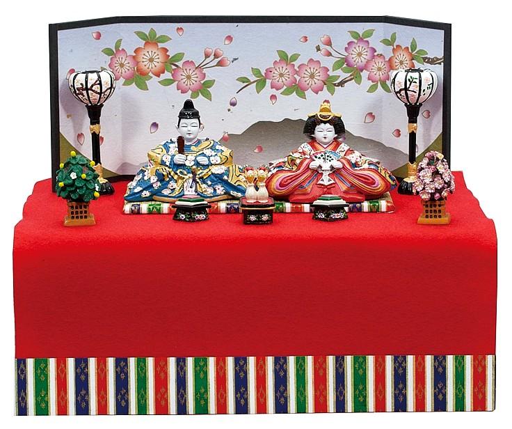 内裏雛新花園新収納飾り   コンパクト 雛人形 ひな人形 出産祝い 初節句 小さい