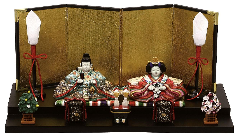 雛人形 内裏雛春香二段貝桶付   ひな人形 桃の節句 ひな祭り 出産祝い 初節句 季節飾り 小さい コンパクト