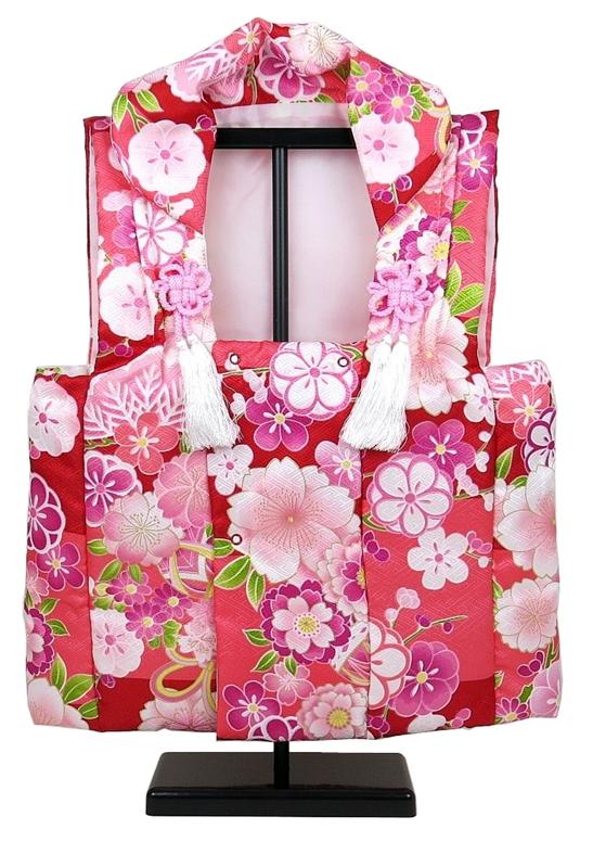 洋服の上から簡単に着れます 期間限定今なら送料無料 綿入り被布着 赤ピンク 国内即発送 被布 初節句 雛人形 桃の節句 ひな人形