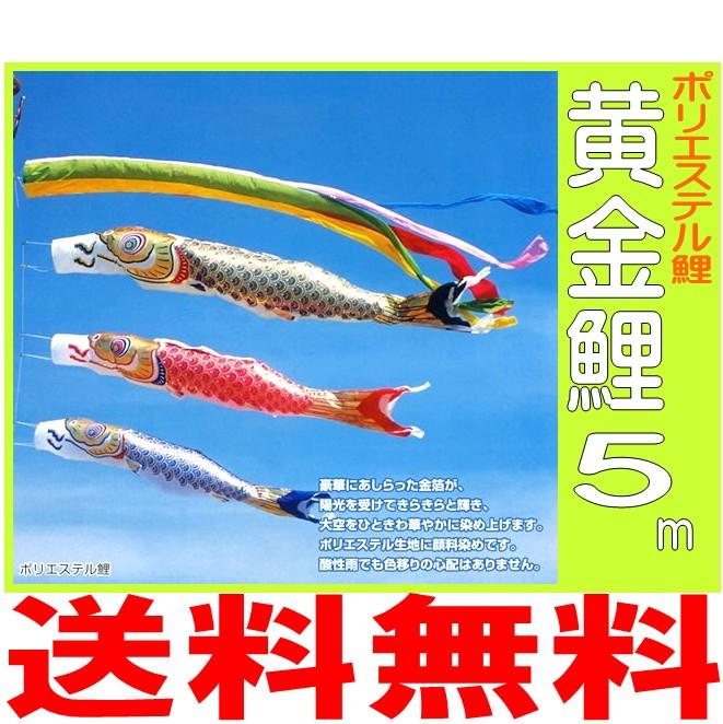 品質一番の 【 6点【 黄金鯉 5m】 6点 セット(ポール別売り)】 鯉のぼり/こいのぼり/庭園用 こいのぼり/ポリエステル/フジサン 鯉, S1/5 エスゴブンノイチ:c1f3e72d --- konecti.dominiotemporario.com