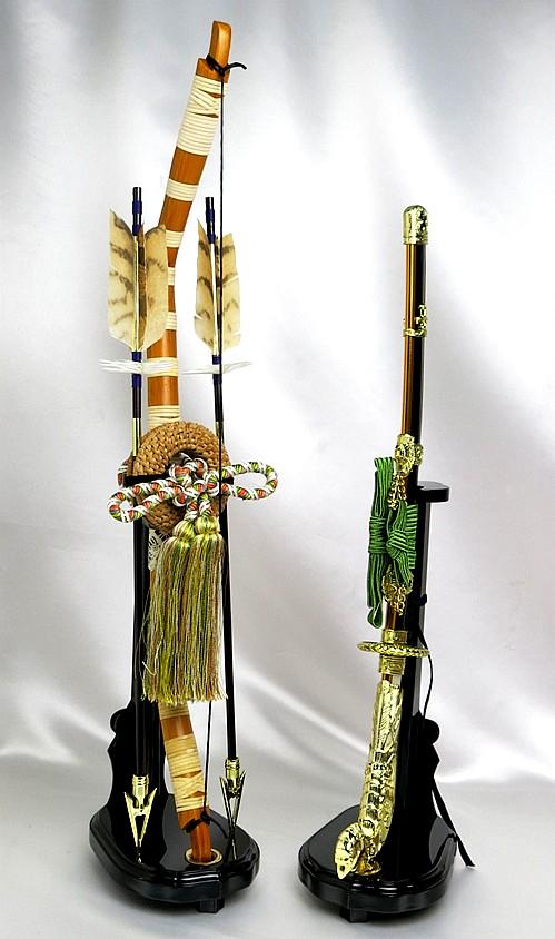 【五月人形】弓太刀(緑紐) 18号 単品弓太刀 兜飾り 鎧飾り 五月道具 単品道具