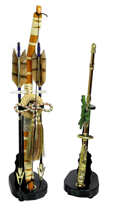 【五月人形】弓太刀(緑紐) 15号 単品弓太刀 兜飾り 鎧飾り 五月道具 単品道具