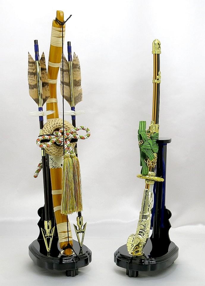 【五月人形】弓太刀(緑紐) 13号 単品弓太刀 兜飾り 鎧飾り 五月道具 単品道具