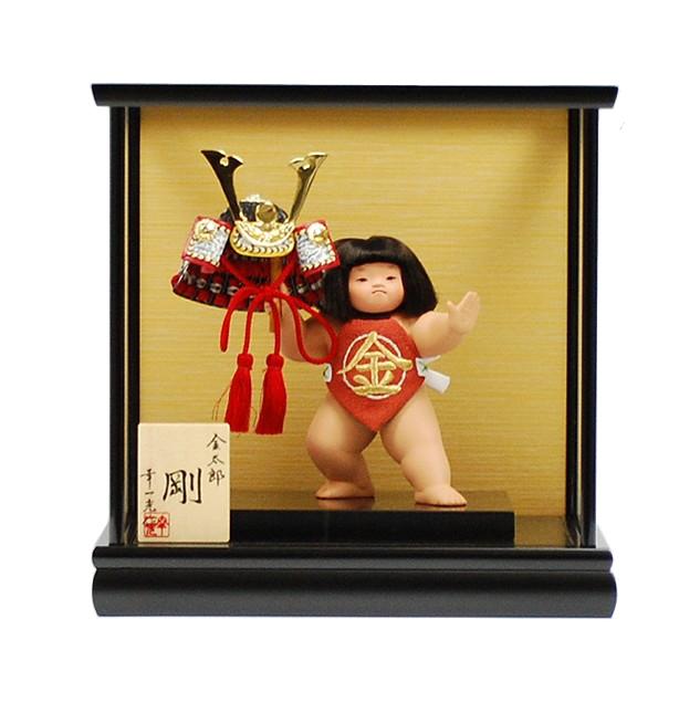 幸一光 裸金太 五号 兜   五月人形 童人形 金太郎 マサカリ コンパクト 桃太郎 大将 有名 作家