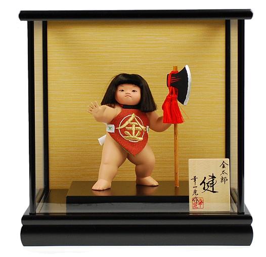 幸一光 裸金太 五号 鉞   五月人形 童人形 マサカリ コンパクト 金太郎 大将 有名 作家