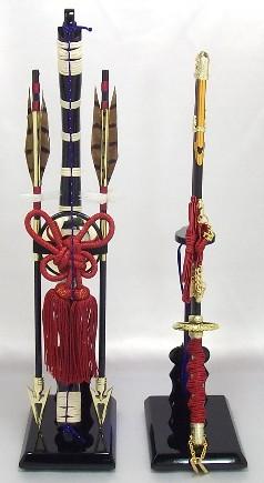 【五月人形】弓太刀(赤紐) 13号 単品弓太刀 兜飾り 鎧飾り 五月道具 単品道具