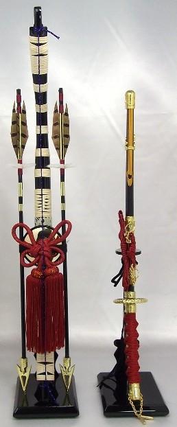 【五月人形】弓太刀(赤紐) 18号 単品弓太刀 兜飾り 鎧飾り 五月道具 単品道具