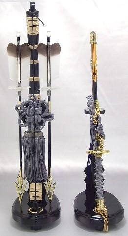 【五月人形】弓太刀(灰紐) 15号 単品弓太刀 兜飾り 鎧飾り 五月道具 単品道具