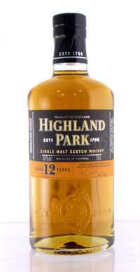 Highland Park 12 year 40 single malt whisky 700 ml