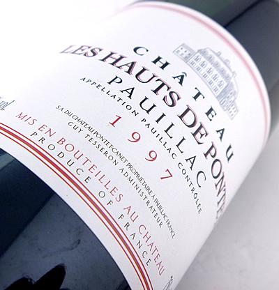 Second wine les Hauts de Pontet [1997] pontecane