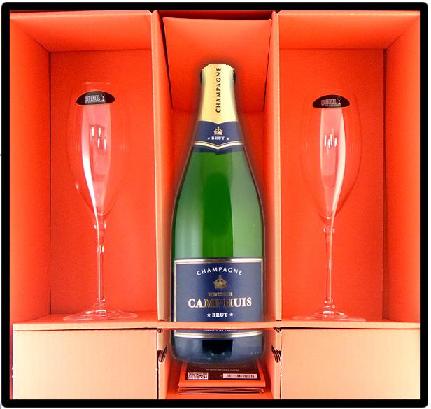 シャンパン&リーデル シャンパン グラス2脚セット ギフトボックス入り ブライダルや記念日ギフトにおすすめ!送料無料