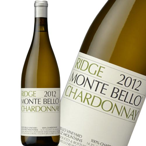 リッジ ヴィンヤーズ モンテベロ シャルドネ 2012 750ml カリフォルニアの偉大な白ワイン [正規品]