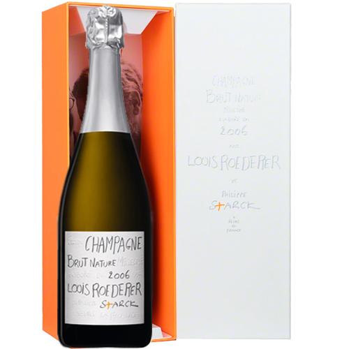 【ルイ・ロデレール】ブリュット ナチュール フィリップ・スタルク・ボックス 2006 正規品 シャンパーニュ 750ml【高品質ワイン】