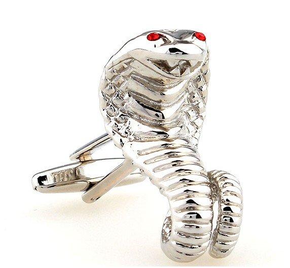 送料無料 専用のカフスケースにいれてお届けします 干支の蛇年生まれの方のプレゼント贈り物用にお薦めです 新品未使用 コブラ 蛇 カフス 全品送料無料 カフスボタン カフリンクス ヘビdesertcobra cufflinks