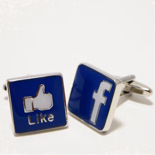 専用のケースにいれてお届けします 普段用 パーティー用 プレゼント用にお薦めです ブランド 返品不可 ロゴ フェイスブック セットアップ Facebook 送料無料 カフスボタン カフリンクス カフス