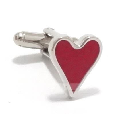 送料無料 送料無料(一部地域を除く) バレンタインハート カフス 40%OFFの激安セール カフリンクス カフスボタン