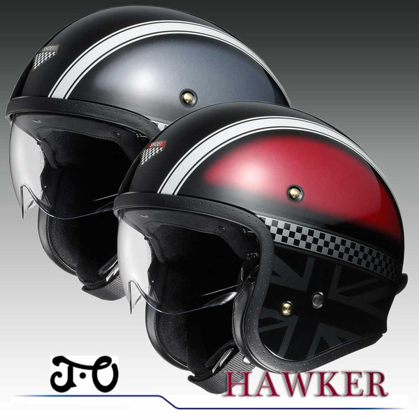 【SHOEI】 ショーエイ ジェットヘルメット J・O (ジェイオー HAWKER ホーカー)【送料無料】【コンビニ受取対応商品】
