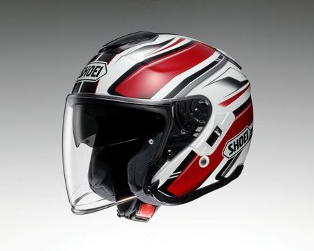 【SHOEI】 ジェットヘルメット J-Cruise PASSE(Jクルーズ パッセ) TC-1 赤/白 インナーバイザー搭載 【ショウエイ】【送料無料】【コンビニ受取対応商品】