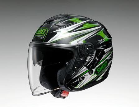 【SHOEI】 ジェットヘルメット J-Cruise CLEAVE(Jクルーズ クリーブ) TC-4 グリーン/黒 インナーバイザー搭載 【ショウエイ】【送料無料】【コンビニ受取対応商品】