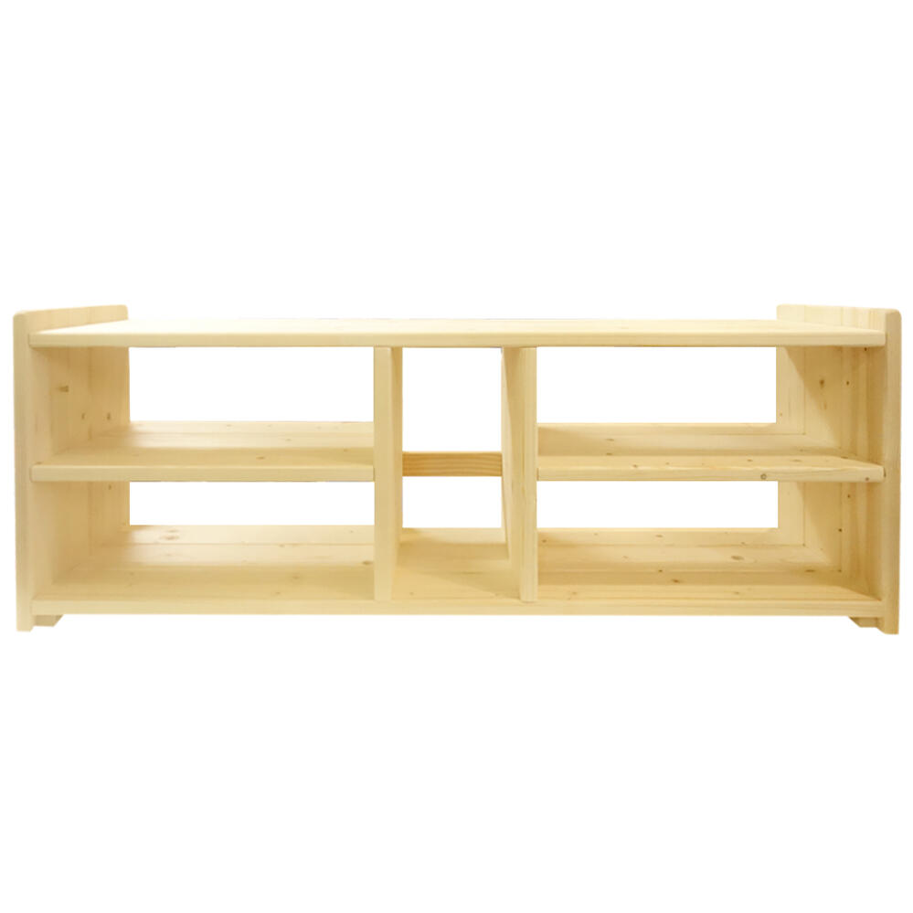 「TVボード W98cm T2 4BOX」ハンドメイド おしゃれ 木製 無塗装 ナチュラル インテリア 工夫次第 使い方 いろいろ ボックス シンプル お祝い ユニーク テレビボード テレビラック TVボード TVラック 実用的 木目 完成品 組み立て不要 自然 天然