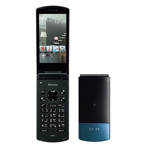 大型画面折りたたみケータイ docomo 人気 FOMA 海外 N-01G ブラック中古 ガラケーメール便対応 ケータイ 白ロム 携帯電話