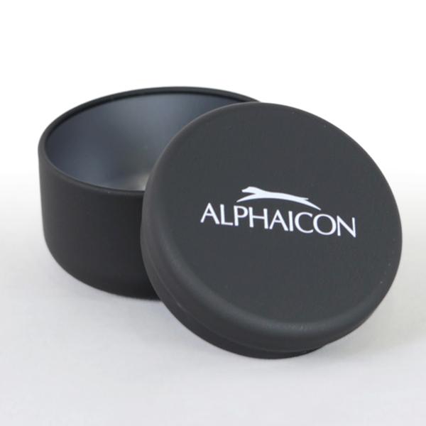 ALPHAICONロゴ入り オリジナル 小物入れにも使える  【ALPHAICON】ALPHAICONロゴ入りおやつ缶【アルファアイコン】
