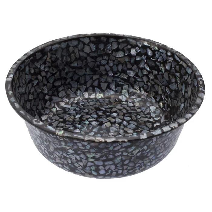 天然の真珠貝を贅沢に使用した高級感溢れるフットスパボウル 天然真珠貝フットスパボウル(ダークカラー)