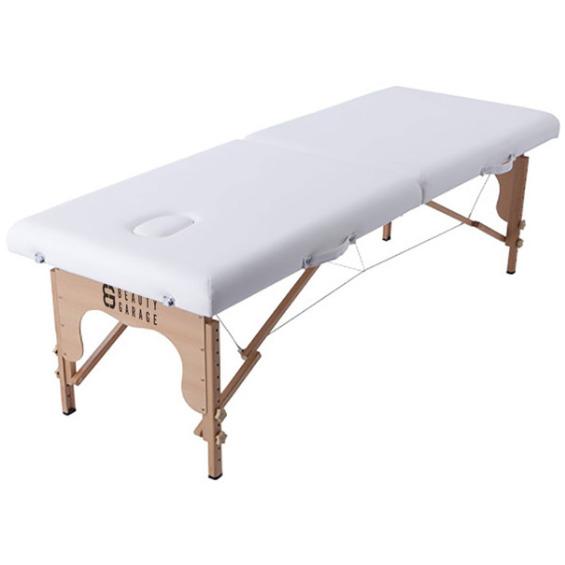 軽量木製折りたたみベッド(キャリーバッグ付) (ホワイト)