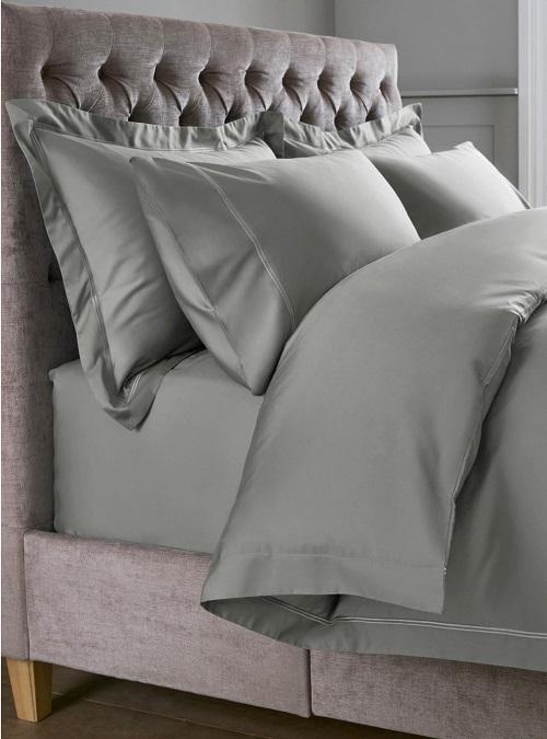 【送料無料】【スーパーキングサイズ】Luxe 600 スレッドカウント コットンサテン コレクション ラグジュアリー ベッドリネンセット チャコール【インテリア・寝具・寝具カバー・シーツ・掛け布団カバー・枕カバー】