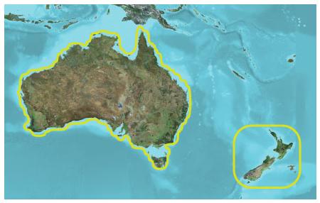 TOPO Australia and New Zealand microSD/SD カード (トポオーストラリア&ニュージーランド microSD/SD)GARMIN(ガーミン)