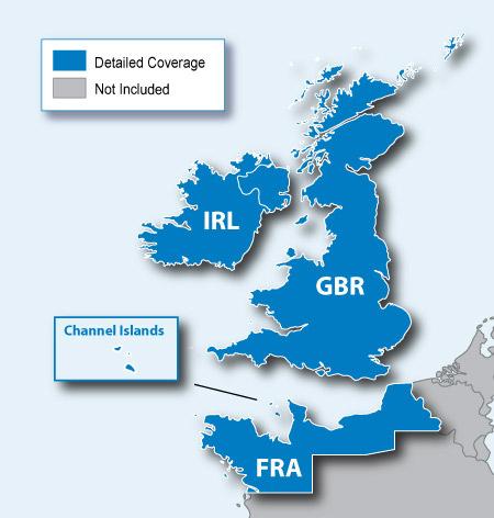 City Navigator Europe NT - UK/Ireland microSD/SD card(シティナビゲーターヨーロッパ NT - イギリス/アイルランド microSD/SDカード)GARMIN(ガーミン)