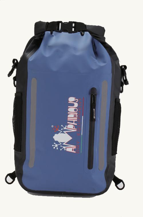 AMPHIBIOUS(アンフィビウス)イタリア製防水バッグATOM(アトム)BLUE(ブルー)15L